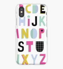 Super alphabet iPhone Case/Skin