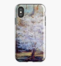 FUMC Cherry Trees, oil on canvas iPhone Case