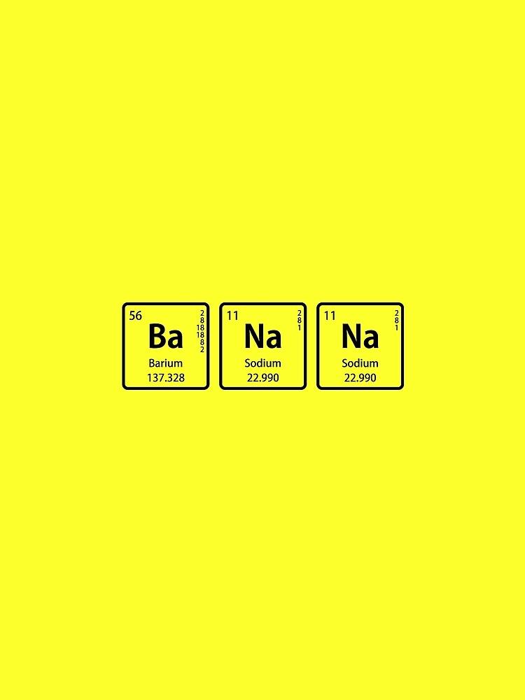 Banana with periodic table element symbols womens chiffon top by banana with periodic table element symbols by sciencenotes urtaz Choice Image