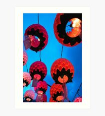 Buddhist Prayer Lanterns - Samgwang Temple, South Korea Art Print