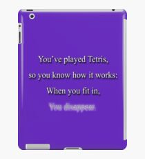Life is like Tetris iPad Case/Skin