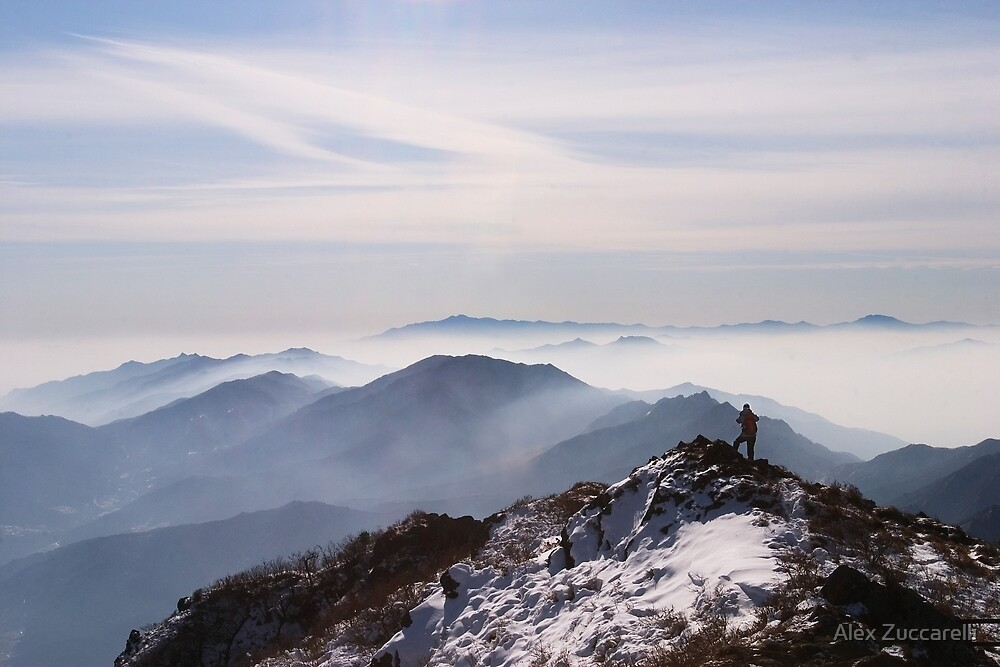 Top Man - Deogyusan National Park, South Korea by Alex Zuccarelli