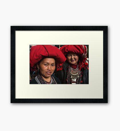 Red Dzao Women - Sapa, Vietnam Framed Print