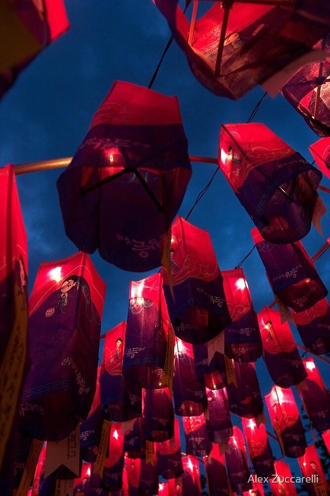 Namgang Lanterns - Jinju, South Korea by Alex Zuccarelli