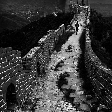 Great Wall Solitude - Miyun, China by alexzuccarelli