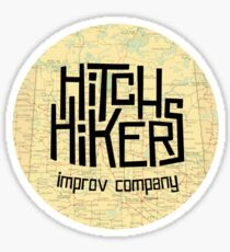 Hitchhikers Improv Map Sticker
