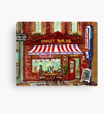 MONTREAL CHALET BBQ ROTISSERIE Canvas Print