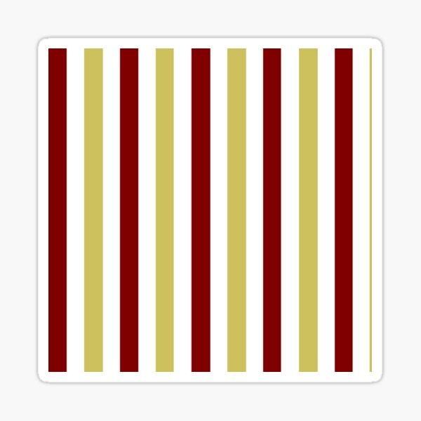 Garnet Gold and White-Striped Sticker