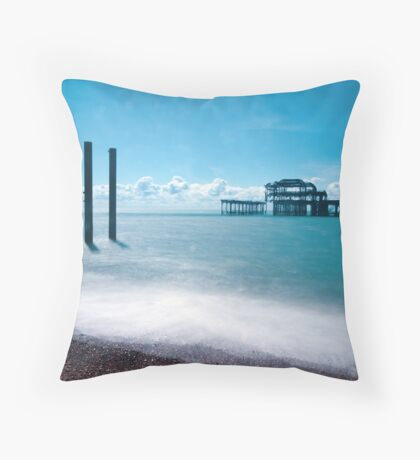 Brighton: Ghosts of the Beach Throw Pillow