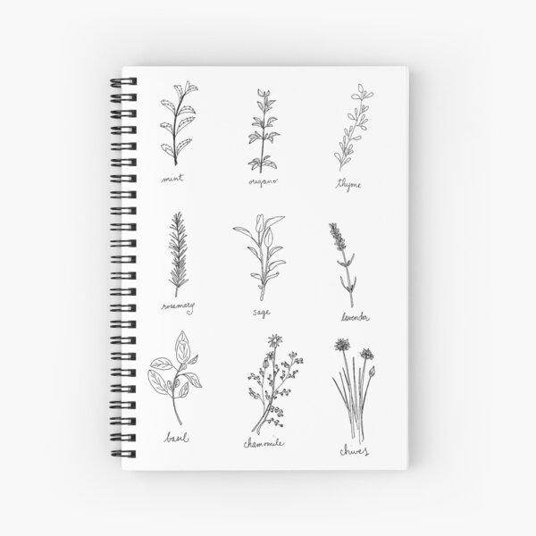 Herb Sketches Spiral Notebook