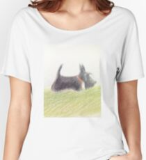Scottie – pencil sketch Women's Relaxed Fit T-Shirt