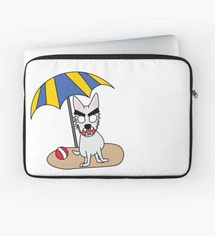 zombie beans romps on the beach Laptop Sleeve