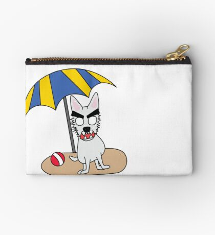 zombie beans romps on the beach Studio Pouch