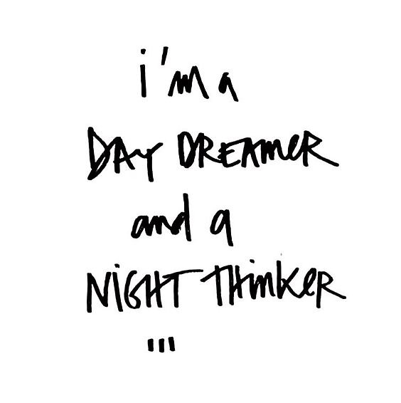 """I'm A Day Dreamer & A Night Thinker"" Stickers by ..."