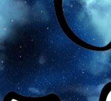 blue galaxy elephant Sticker