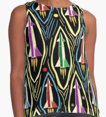 Retro Rocket Racers in Outer Space Contrast Tank