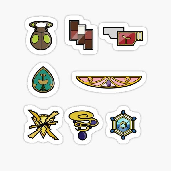Pokemon - Kalos League: Kalos Region Badges Sticker
