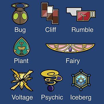 Pokemon - Kalos League: Kalos Region Badges by AngelGhosty