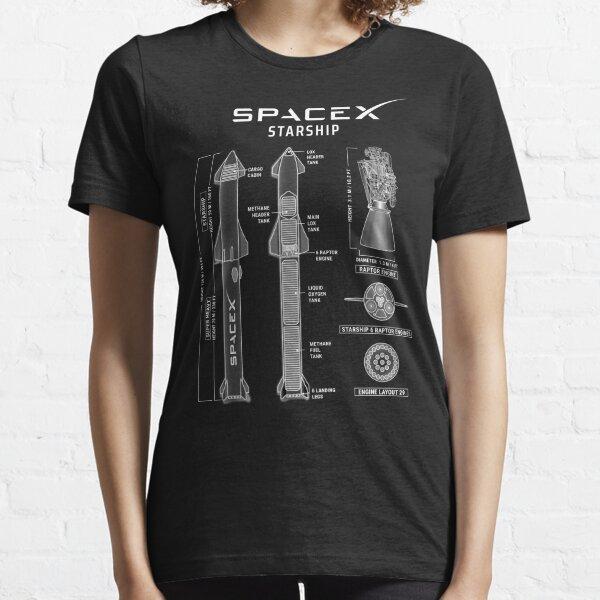 SpaceX Starship Blueprint Essential T-Shirt