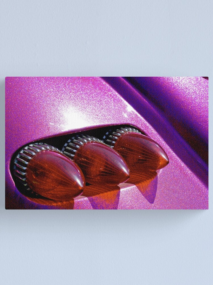 Alternate view of Bullet tail lights and purple metal flake Canvas Print