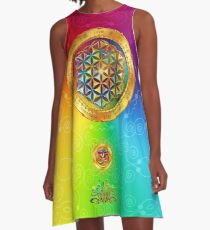 The Flower of Life A-Line Dress