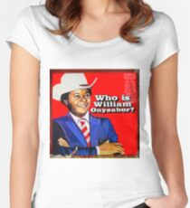 Who is William Onyeabor? Women's Fitted Scoop T-Shirt