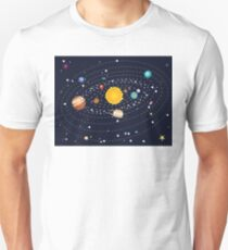 Planets of Solar System T-Shirt