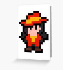 Pixel Carmen Sandiego Greeting Card