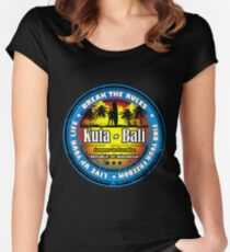 God's Island Party Beaches Kuta Women's Fitted Scoop T-Shirt