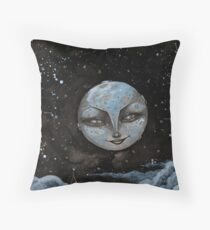 Soft Constellations Framing A Sandy Moon Throw Pillow