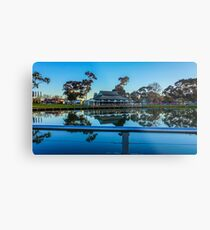 The Boardwalk Reflections at Lake Weeroona - Bendigo, Victoria Metal Print