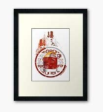 Negroni recipe Framed Print