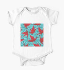 Red Origami Birds Kids Clothes