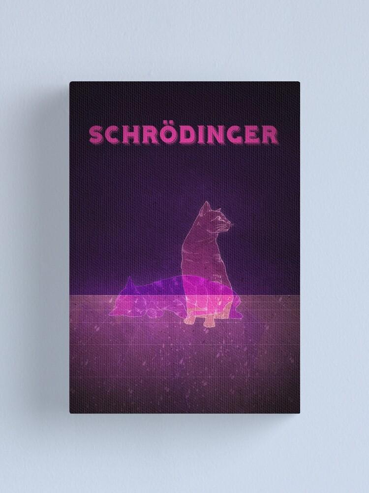 Alternate view of Schrodinger's Cat Canvas Print