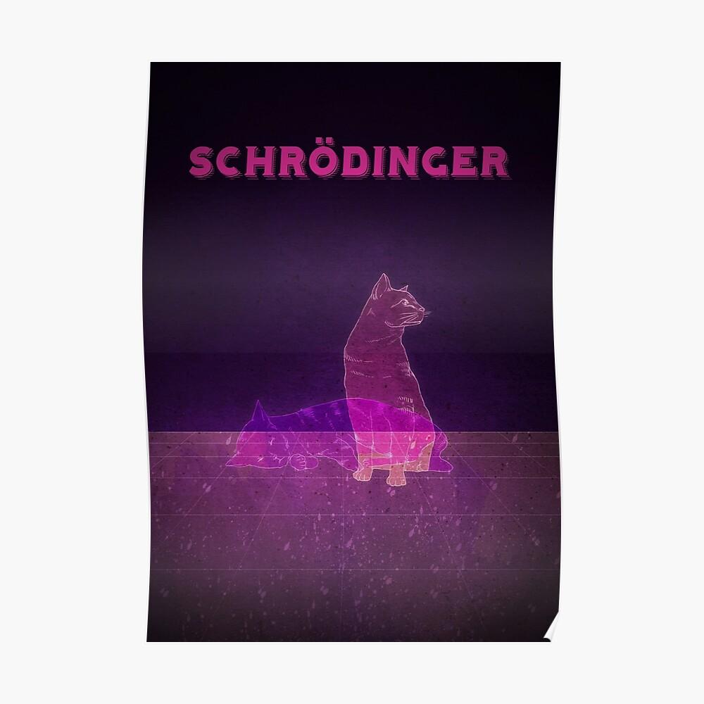 Schrödingers Katze Poster