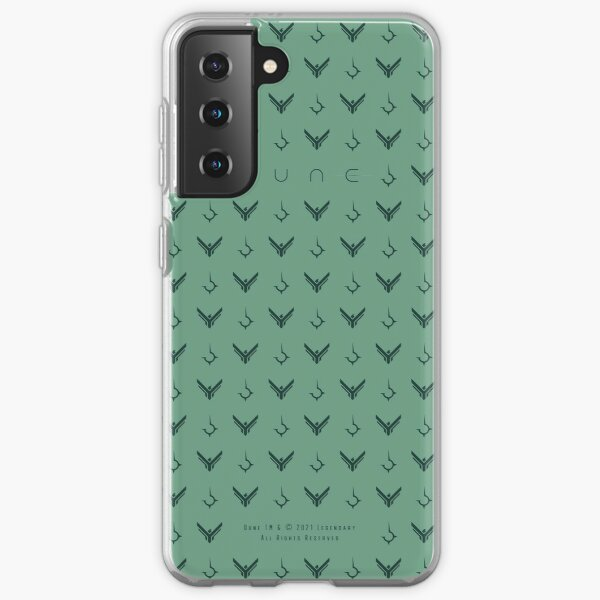 Dune - Atreides and Harkonnen Symbol Pattern (Green) - Samsung Galaxy Soft Case