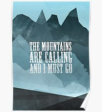 Mountains are calling Poster
