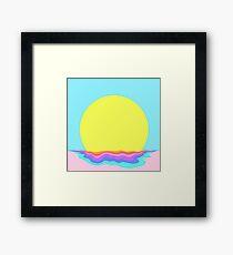 Psychedelic Sunrise Framed Print