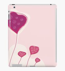 Abstract heart texture. Retro background design with copyspace iPad Case/Skin