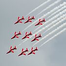 Red Arrows inverted by Gary Eason