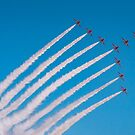 Red Arrows swan formation by Gary Eason