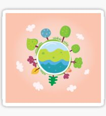 Green planet. We are going to rescue our planet! More trees everywhere Sticker