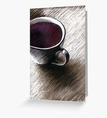 Flieder - Kaffee Greeting Card