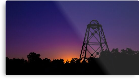 The Poppethead Silhouette at Sunset #2 - Bendigo, Victoria by sjphotocomau