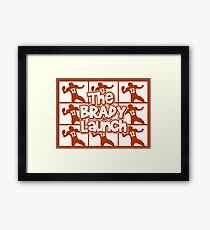 The Brady Launch Framed Print