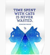 Katzen-Psychoanalyse Poster
