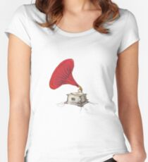Phonograph Women's Fitted Scoop T-Shirt