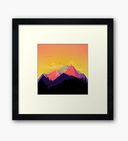 Oh the mountains Framed Print