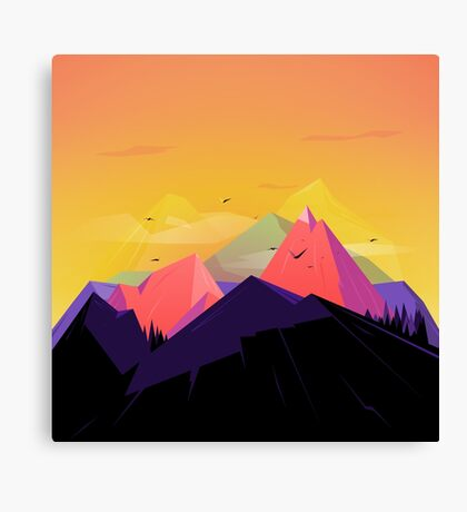 Oh the mountains Canvas Print