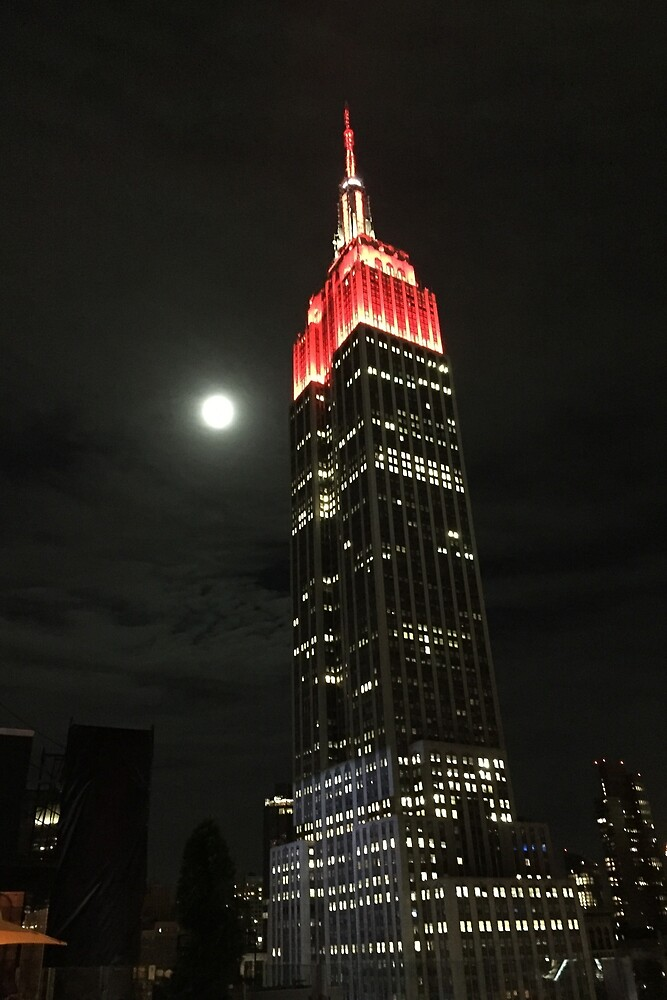 Empire State Moon Night New York by thor13